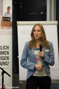 Larissa Schmitz auf der 1 Social Media Night Bildung 2.0