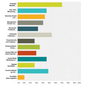 Ergebnisse der Befragung zum Interesse an Social-Media-Themen (zum Vergrößern anklicken)
